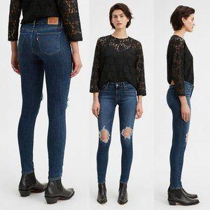 NEW Levi's 711 Skinny Sculpt Soft Denim Jeans 27
